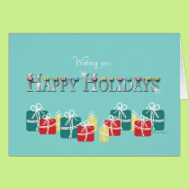Christmas for Orthodontist Braces and Present Card