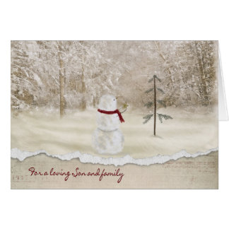 Christmas for Son and family Card