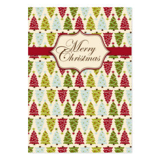 Christmas Forest Gift Tag 2 Business Card Templates