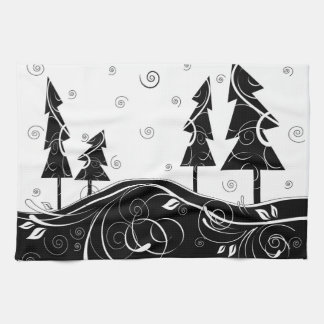 Christmas Forest Kitchen Towel