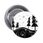 Christmas Forest Pinback Button