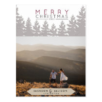 Christmas Forest | Pine Tree and Photo Card