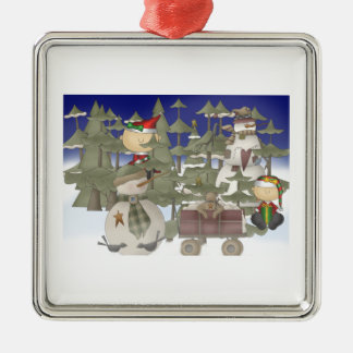 Christmas Forrest Metal Ornament