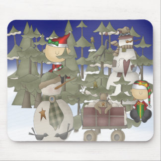 Christmas Forrest Mousepads