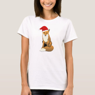 Christmas Fox Cute Illustration T-Shirt