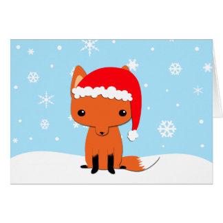 Christmas fox greeting cards