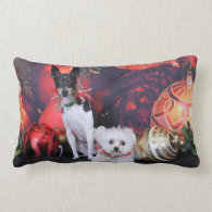 Christmas - Fox Terrier & Maltese - Monty & Millie Pillows