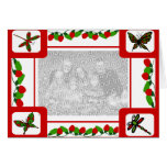 Christmas frame red blank card