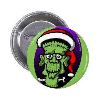 Christmas Frankenstein Button