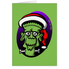 Christmas Frankenstein Card at Zazzle
