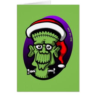 Christmas Frankenstein Greeting Cards