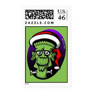 Christmas Frankenstein stamp