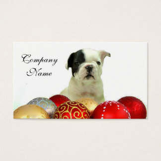 Christmas French Bulldog Business Card
