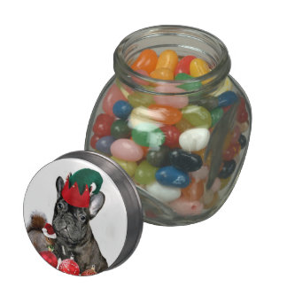 Christmas French Bulldog Jelly Belly Candy Jars