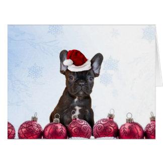 Christmas French Bulldog Greeting Cards