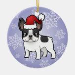 Christmas French Bulldog Christmas Tree Ornament
