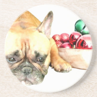 Christmas French Bulldog Coaster