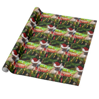 Christmas French Bulldog Gift Wrap Paper
