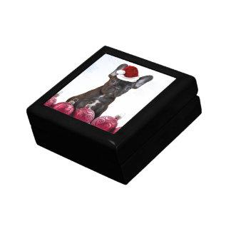 Christmas French Bulldog Jewelry Box