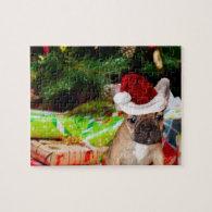 Christmas French Bulldog Jigsaw Puzzles
