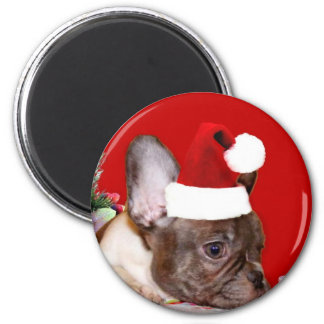 Christmas French Bulldog magnet