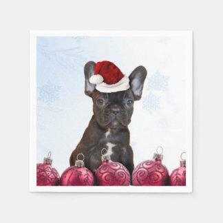 Christmas French Bulldog Disposable Napkin