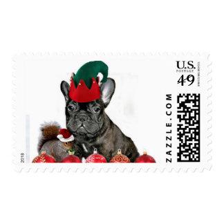 Christmas French Bulldog Stamp