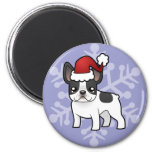 Christmas French Bulldog Refrigerator Magnets