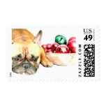 Christmas French Bulldog Stamps