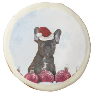 Christmas French Bulldog Sugar Cookie