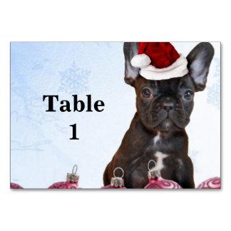 Christmas French Bulldog Table Cards