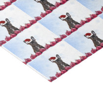 Christmas French Bulldog tissue paper