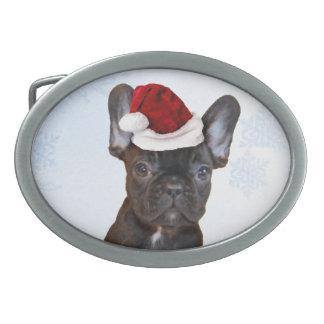 Christmas French Bulloog Belt Buckle