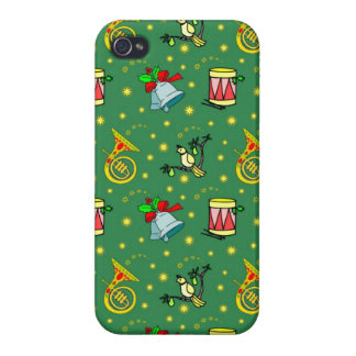 Christmas, French Horns and Magenta Drums Case For iPhone 4