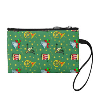 Christmas, French Horns and Magenta Drums Coin Purse