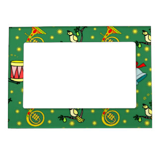 Christmas, French Horns and Magenta Drums Picture Frame Magnets