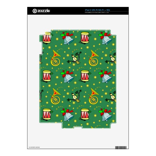 Christmas, French Horns and Magenta Drums Skin For The iPad 2