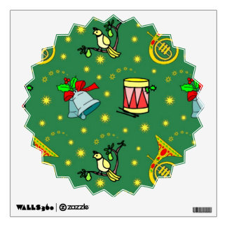 Christmas, French Horns and Magenta Drums Wall Decor