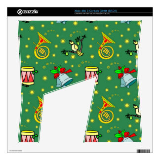 Christmas, French Horns and Magenta Drums Xbox 360 S Decal