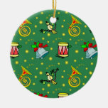 Christmas – French Horns & Magenta Drums 2 Christmas Ornament
