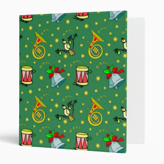 Christmas – French Horns & Magenta Drums 3 Ring Binder