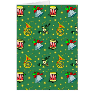 Christmas – French Horns & Magenta Drums Card