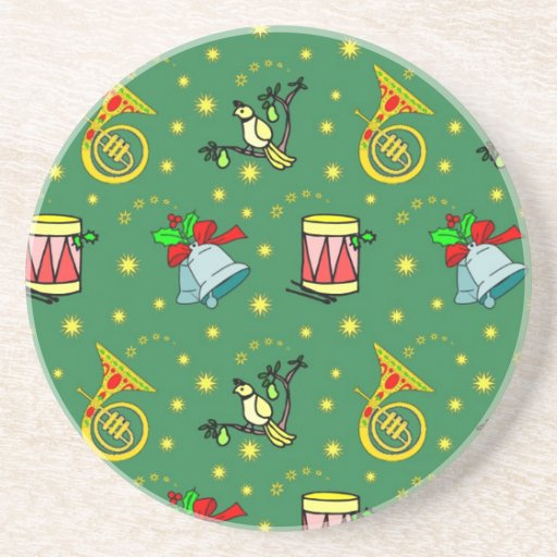 Christmas – French Horns & Magenta Drums Drink Coaster