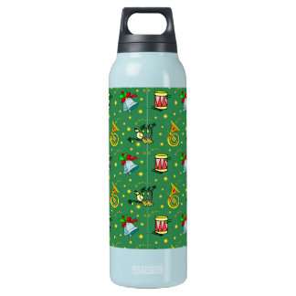 Christmas – French Horns & Magenta Drums Insulated Water Bottle