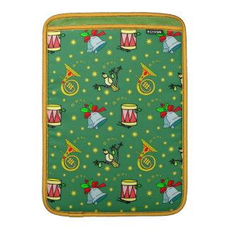 Christmas – French Horns & Magenta Drums MacBook Sleeves