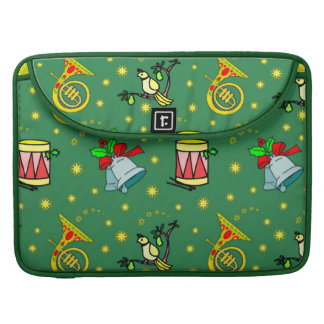 Christmas – French Horns & Magenta Drums Sleeve For MacBook Pro