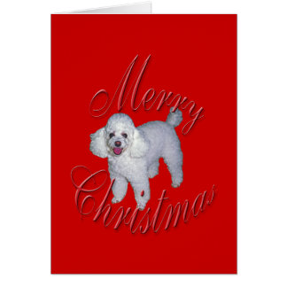 Christmas French Poodle Card