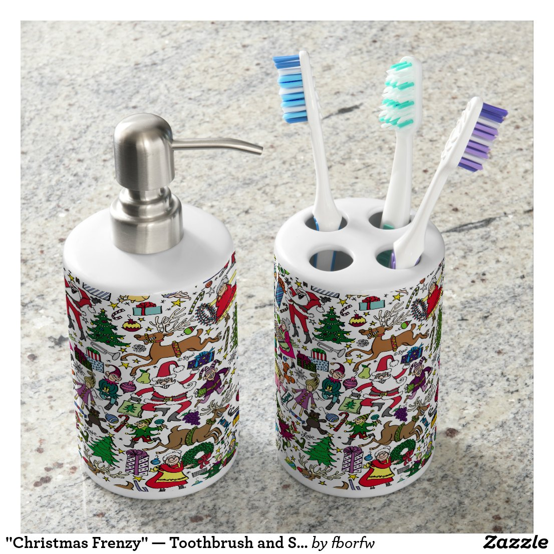 """Christmas Frenzy"" — Toothbrush and Soap Set"