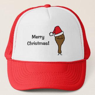 Christmas Fried Chicken leg Santa hat drumstick