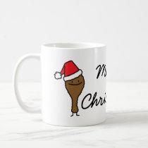Christmas Fried Chicken leg Santa hat drumstick Coffee Mug
